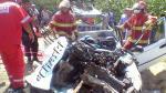 Huacho: Seis muertos tras choque frontal entre taxi colectivo y camión