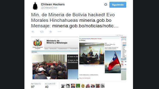 bolivia 39 piratas 39 chilenos hackearon sitio web de un