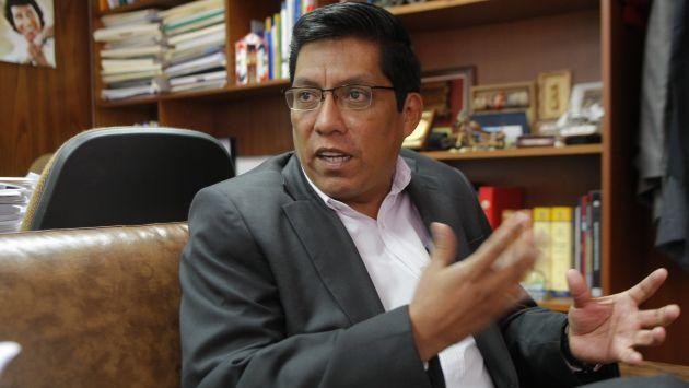 Vicente Zeballos demandó rápida intervención de la OCMA. (Luis Gonzales)