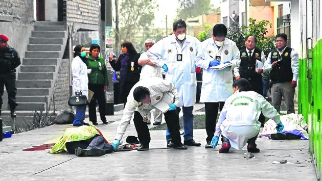 Los criminales realizaron más de 26 disparos contra sus víctimas. (Martín Herrera/Canal 2)