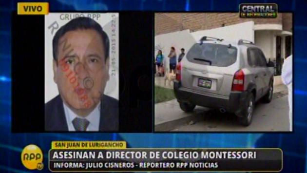 Director de colegio habría sido asesinado en presencia de los alumnos de su colegio. (RPP)
