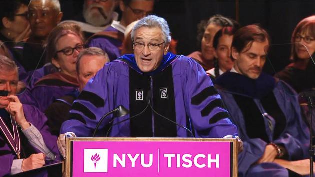Robert De Niro da un discurso muy sincero a todos los alumnos de la escuela de artes de NYU (Captura)