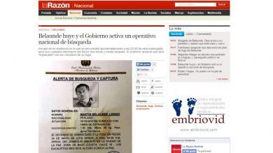 Prensa, Bolivia, Fuga, Martín Belaunde Lossio
