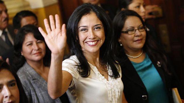 Nadine Heredia se presentará en la comisión acompañada por legisladores oficialistas. (Luis Gonzáles)