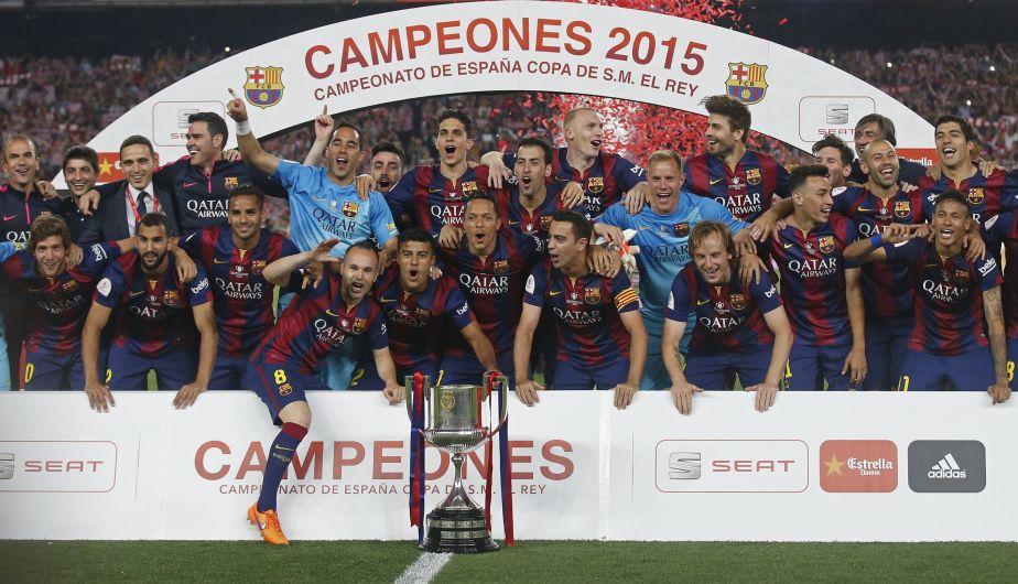 Barcelona venció 3-1 a Athletic de Bilbao y es campeón de la Copa del Rey