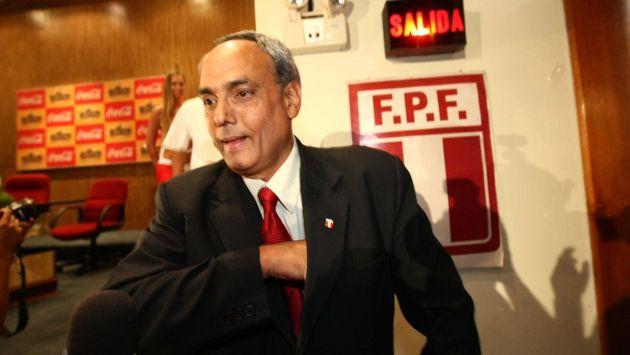 ¿RECIBIÓ SOBORNO? Manuel Burga fue acusado de haber recibido U$1.5 millones de la Conmebol. (USI)