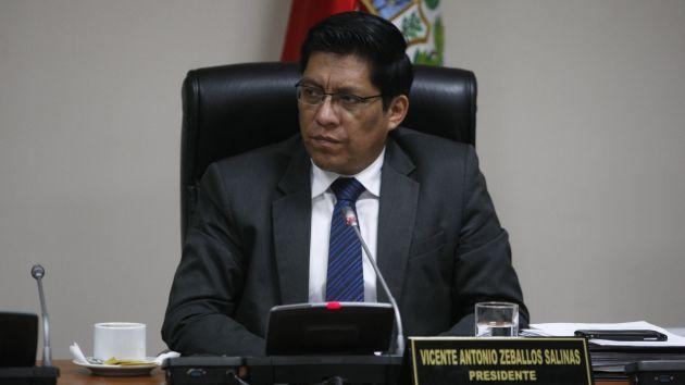 Vicente Zeballos señaló que hasta el 15 de julio recogerán versiones de investigados. (Mario Zapata)