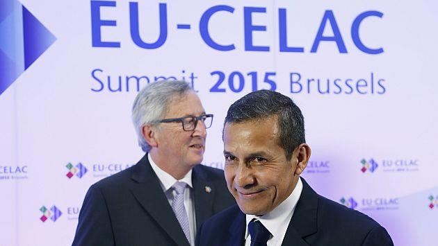 Ollanta Humala empezó hoy su participación en la Cumbre Celac-UE. (Reuters)