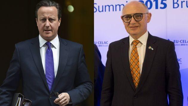El canciller argentino Héctor Timerman y el primer ministro británico David Cameron tuvieron discusión por las islas Las Malvinas. (Reuters/AFP)