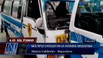 Callao: 15 heridos dejó triple choque entre dos combis y una moto - Noticias de choque múltiple
