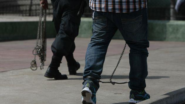 Policías pasaron a la Fiscalía. (Rafael Cornejo)