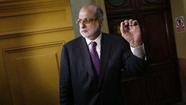 VOZ DE ALERTA. Daniel Abugattás pide que se sancione a responsables de entrega de concesión en Puno. (César Fajardo)