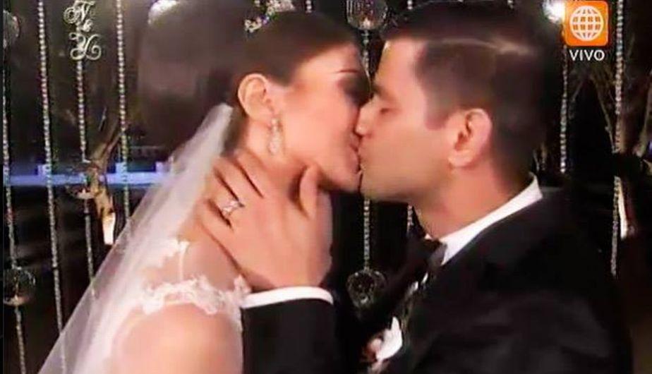 Yaco Ezkenazi y Natalie Vértiz: Las mejores postales de 'La boda del año'. (Captura América TV)