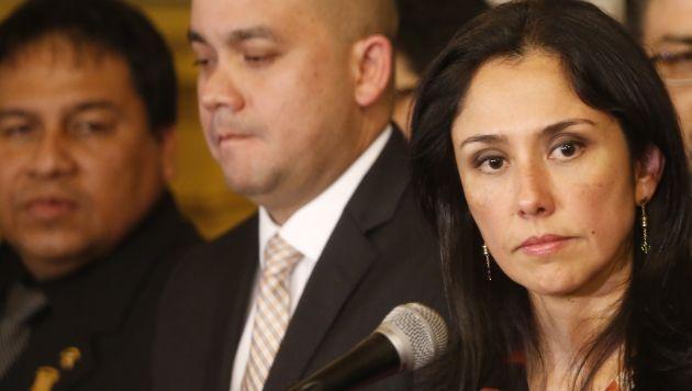 Nadine Heredia descartó que Marisol Espinoza sea candidata a presidencia del Congreso. (César Fajardo)