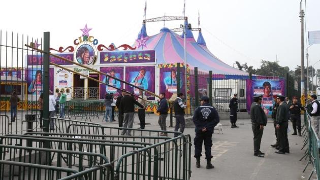 VIGILARÁN CIRCOS. Policía dispone patrullaje permanente. (USI)
