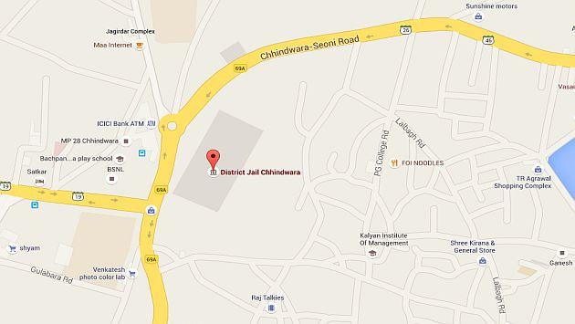 India: Reo se fugo de prisión que no le gustaba y se entregó en otra de su ciudad natal: Chhindwara. (Google Maps)