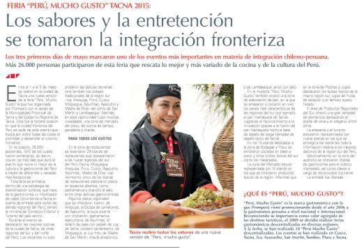 Chile diario el mercurio realiz homenaje al per por sus for Noticias actuales del espectaculo