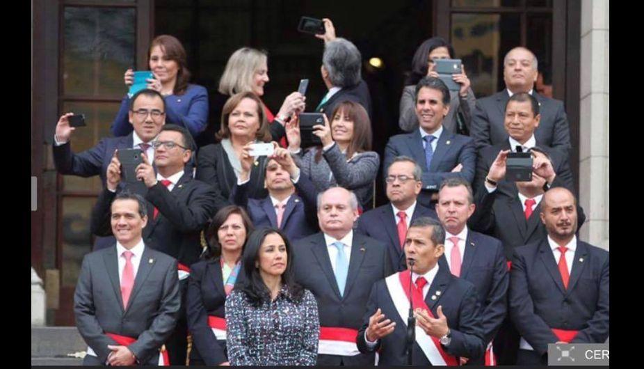 Ollanta Humala: Sus ministros se tomaron 'selfies' cuando él daba discurso en Palacio