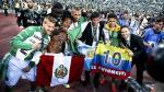 André Carrillo mostró con orgullo la bandera peruana. (EFE)