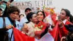 Gladys Tejeda fue recibida en Perú como heroína tras ganar medalla de oro en los Juegos Panamericanos - Noticias de oscar ayala