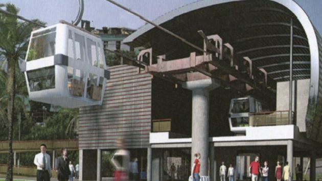 Pasaje en teleféricos de Lima costarían entre S/. 1.50 y S/. 2.00. (Andina)