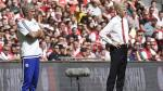 Entrenadores se ignoraron durante la Community Shield. (EFE)