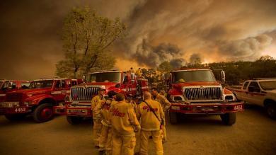 EEUU: California registró unos 20 incendios forestales por sequía [Fotos]