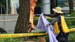 Surcoreano se prende fuego delante de la embajada de Japón en Seúl [Video] - Noticias de día mundial del agua