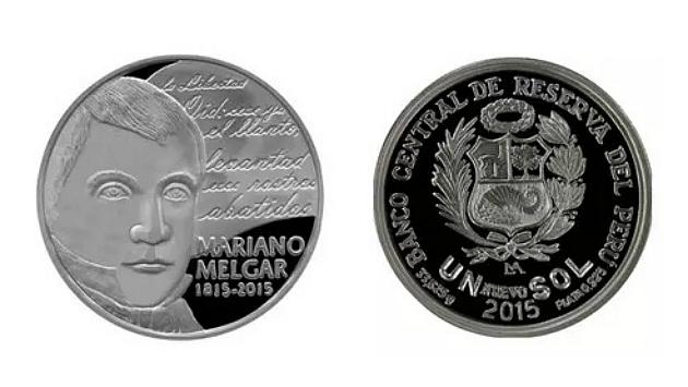 BCR hizo la presentación de la nueva moneda de un sol dedicada a Mariano Melgar (BCR)