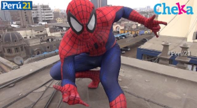 """Daniel Soto, el Spider-Man peruano nos dice: """"Todos podemos ser héroes"""". (Perú21)"""