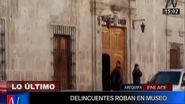 Roban piezas arqueológicas en museo de la UNSA en Arequipa. (Canal N)