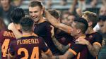 Roma celebra su victoria ante Juventus. (AP)