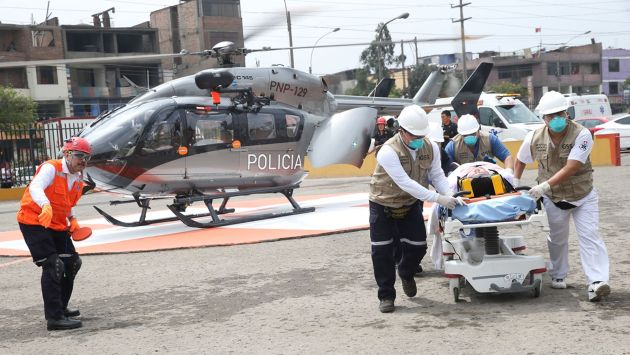 ENSAYO. Ayer se realizó un simulacro de evacuación de afectados por evento climatológico. (USI)