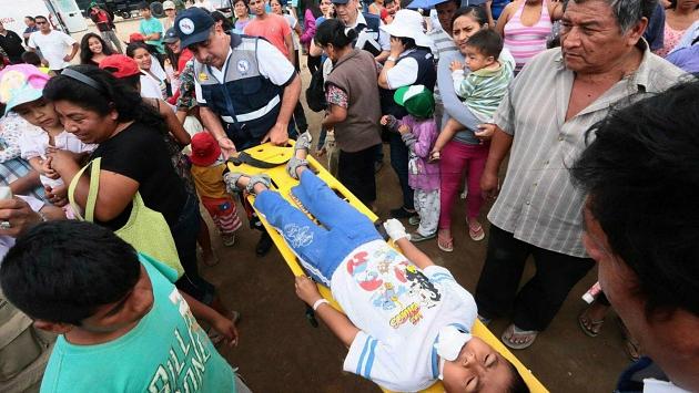 Participantes en Piura del Simulacro por el Fenómeno El Niño (EFE)