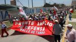 A las calles. Hoy habrá marcha contra la campaña de la minera. (Perú21)