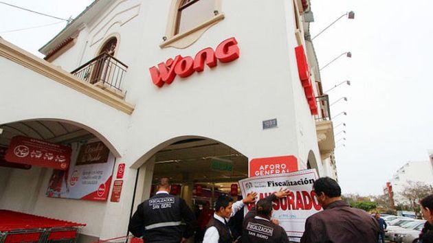 Local de Wong ahora deberá de subsanar los errores para reabrir el negocio. (Municipalidad de San Isidro)