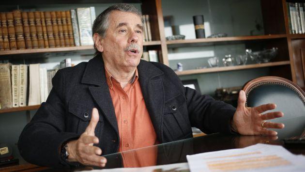 Fernando Rospigliosi dijo que el gobierno manipula a la PNP, la fiscalía y el PJ en base a sus intereses. (César Fajardo)