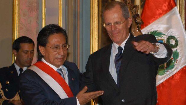 Alejandro Toledoy Pedro Pablo Kuczynski cuando trabajan juntos en el gobierno. (USI)