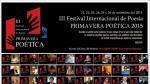 Más de 60 poetas se reúnen en Festival Internacional Primavera Poética - Noticias de harold ramos