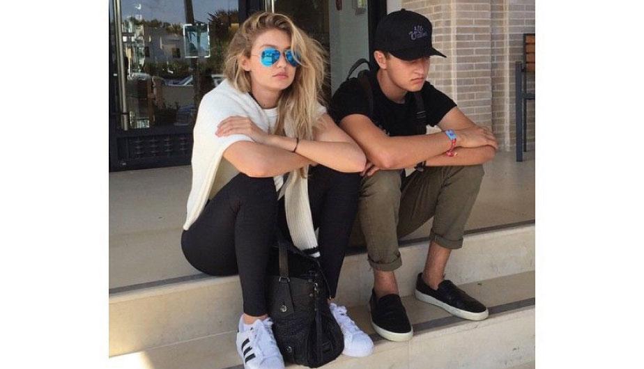 Gigi Hadid y su hermano Anwar (Instagram)