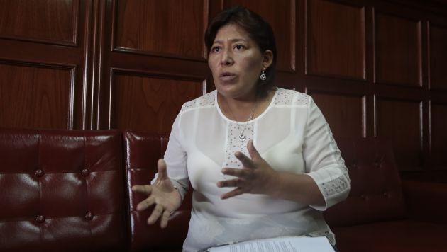 Natalie Condori renunció a las filas de Gana Perú. (Nancy Dueñas)