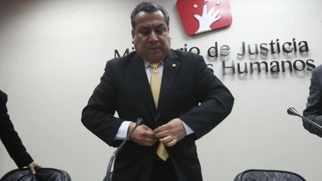 Quita apoyo. El ministro Adrianzén no tomó en cuenta la preocupación de los procuradores. (Percy Ramírez)