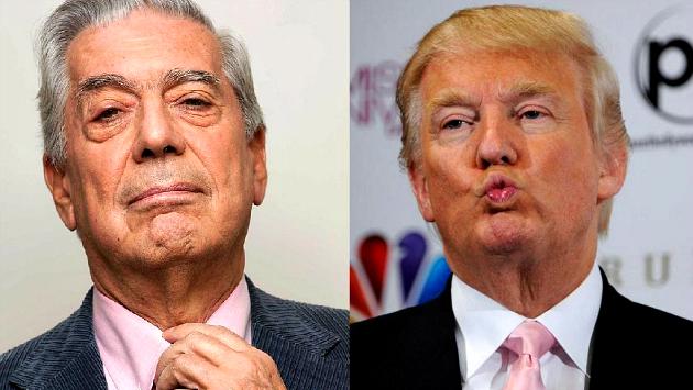 Mario Vargas Llosa arremetió contra Donald Trump. (Perú21)