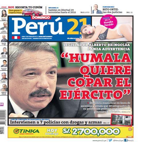 """""""Humala quiere copar el Ejército"""""""