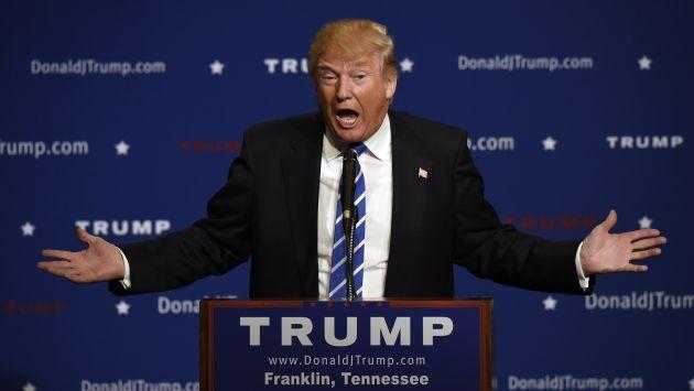 Donald Trump dijo que el mundo sería más estable si Muamar Gadafi y Sadam Hussein siguieran en el poder. (AP)