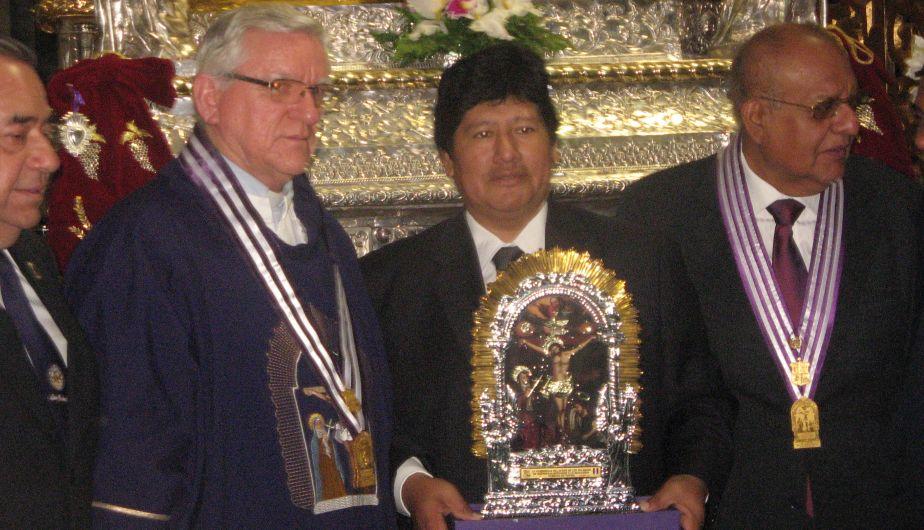 Señor de los Milagros acompañará a la selección peruana en el vestuario. (Carlos Lara)