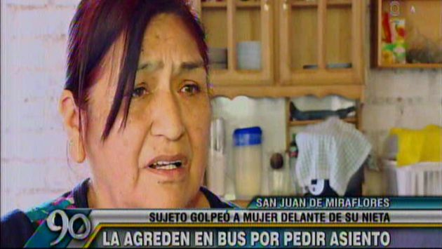 Mujer denunció haber recibido golpes en el rostro. (Latina)