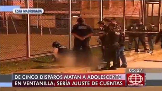 Asesinaron de cinco balazos a adolescente cerca a loza deportiva en Ventanilla. (América TV)