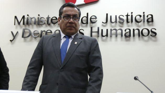 Gustavo Adrianzén indicó que pedirá la información exacta sobre la cantidad de peritos del Ministerio de Justicia. (César Fajardo)