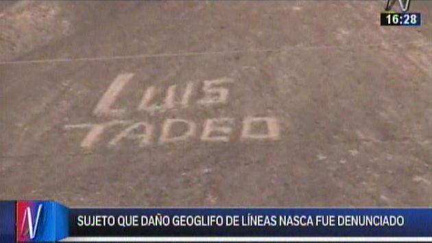 Ministerio de Cultura denunció a sujeto que dañó los geoglifos de las Líneas de Nazca. (Canal N)